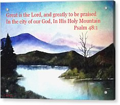 God's Holy Mountian Acrylic Print by Zelma Hensel