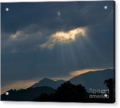 Gods Morning Rays Acrylic Print by Eva Thomas