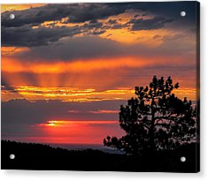 God's Spotlight Over Keystone Acrylic Print