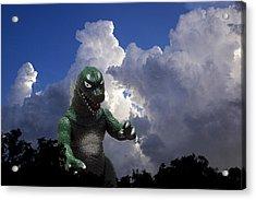 Godzilla Attacks Acrylic Print by William Patrick