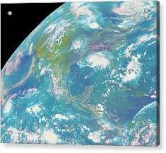 Goes Image Of North & Central America Acrylic Print by Nasa/science Photo Library