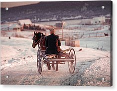 Going Down The Road Acrylic Print by Douglas Pike