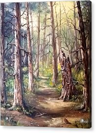 Acrylic Print featuring the painting Going For A Walk by Megan Walsh