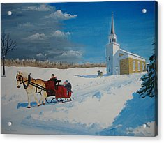 Going Home From Church Acrylic Print by Norm Starks