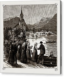 Going Home From Church, Norway Acrylic Print by Litz Collection