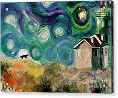 Acrylic Print featuring the painting Going Home by Maja Sokolowska