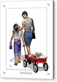 Going Shopping Acrylic Print