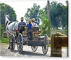 Going To Market Acrylic Print by Paul Mashburn