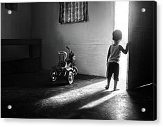 Going To Play Acrylic Print by Ivan Valentino