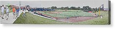 Going To The Baseball Game Digital Art Acrylic Print by Thomas Woolworth