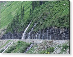 Going To The Sun Road Weeping Wall Acrylic Print