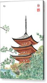 Gojunoto Pagoda Acrylic Print