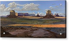 Gold Across The Valley Monument Valley Acrylic Print