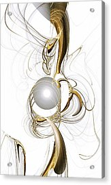 Gold And Pearl Acrylic Print