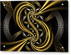 Gold And Silver Acrylic Print by Sandy Keeton
