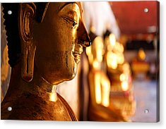 Acrylic Print featuring the photograph Gold Buddha At Wat Phrathat Doi Suthep by Metro DC Photography