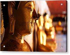 Gold Buddha At Wat Phrathat Doi Suthep Acrylic Print by Metro DC Photography