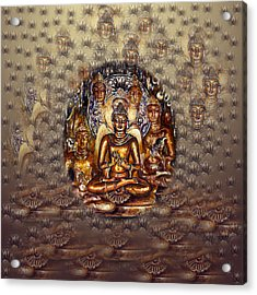 Gold Buddha Acrylic Print