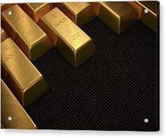 Gold Bullion Acrylic Print