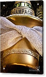 Gold Champagne Ornament Acrylic Print by Birgit Tyrrell