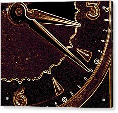 Acrylic Print featuring the photograph Gold Clock by Michael Dohnalek