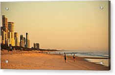 Acrylic Print featuring the photograph Gold Coast Beach by Eric Tressler