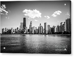 Gold Coast Skyline In Chicago Black And White Picture Acrylic Print by Paul Velgos