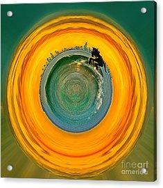 Gold Coast Surfer Circagraph Acrylic Print by Az Jackson