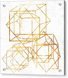 Gold Cubed I Acrylic Print by South Social Studio