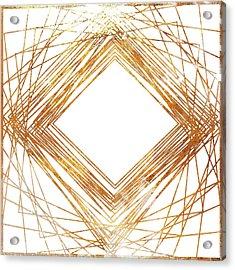 Gold Diamond Acrylic Print by South Social Studio