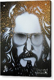 Gold Dude  Acrylic Print by Christopher  Chouinard