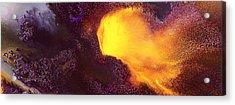 Gold Echo Horizontal Abstract Art By Kredart Acrylic Print
