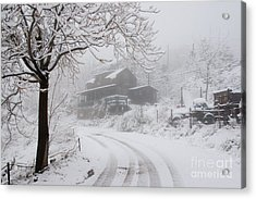 Gold King Mine In Snow Acrylic Print