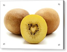 Acrylic Print featuring the photograph Gold Kiwifruit by Fabrizio Troiani