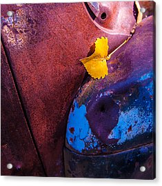 Gold Leaf And Patina Color Acrylic Print