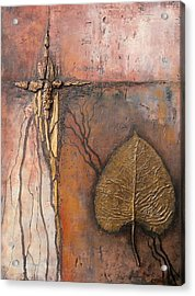Gold Leaf Acrylic Print by Buck Buchheister