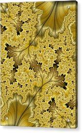 Acrylic Print featuring the digital art Gold Leaf by Lea Wiggins