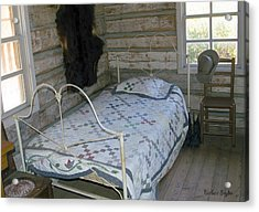 Gold Miners Cabin Acrylic Print by Barbara Snyder