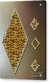 Gold On Copper Acrylic Print by Tina M Wenger