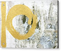 Gold Rush - Abstract Art Acrylic Print by Linda Woods