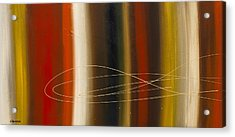 Gold Rush Acrylic Print by Carmen Guedez