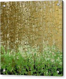 Gold Sky Green Grass Acrylic Print