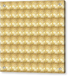Acrylic Print featuring the photograph Gold Sparkle Tone Pattern Unique Graphics by Navin Joshi