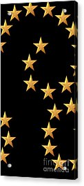 Gold Stars Abstract Triptych Part 2 Acrylic Print by Rose Santuci-Sofranko
