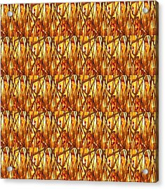 Acrylic Print featuring the photograph Gold Strand Sparkle Decorations by Navin Joshi