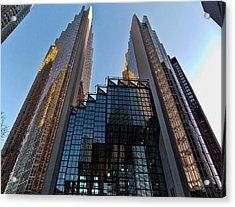 Gold Towers Acrylic Print by Nicky Jameson