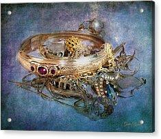 Gold Treasure Acrylic Print