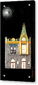 Gold Victorian Mansion-montreal Acrylic Print