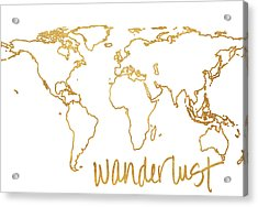 Gold Wanderlust Acrylic Print