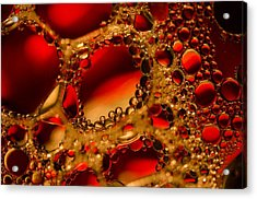 Gold With Red Rubies Acrylic Print